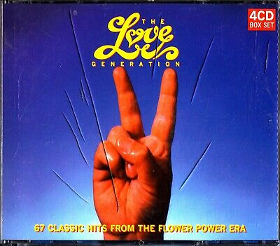 The Love Generation -Flower Power Hits 4-CD (The Best Of 60s Pop/Rock) TV