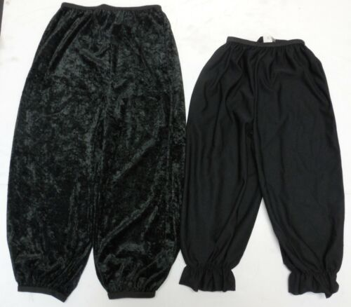 Lot of 2 Black Knickers Bloomers Dance costume Child Sizes 1 medium 1 small NWT