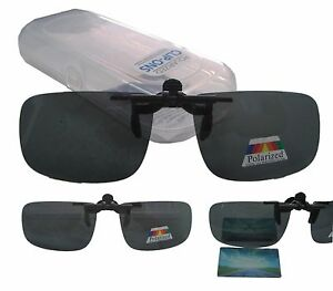 Überbrille Brille Aufsatz Clip on Sonnenbrillenaufsatz Polarisiert hoch klappbar
