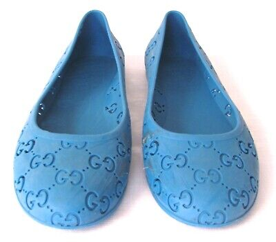 Gucci Blue GG Rubber Toddler Shoes - Made In ITALY