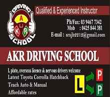 AKR DRIVING SCHOOL IN NORTHERN SUBURB(BUNDOORA) Bundoora Banyule Area Preview