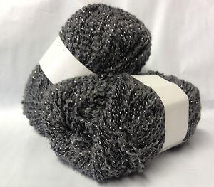 lot 10 pelotes laine lurex d marqu es gris fabriqu en france ebay. Black Bedroom Furniture Sets. Home Design Ideas