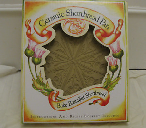 Ceramic shortbread pan by Brown Bag Cookie Art*Thistle*NEW