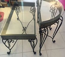 Decorative wrought iron look coffee & side table Golden Bay Rockingham Area Preview
