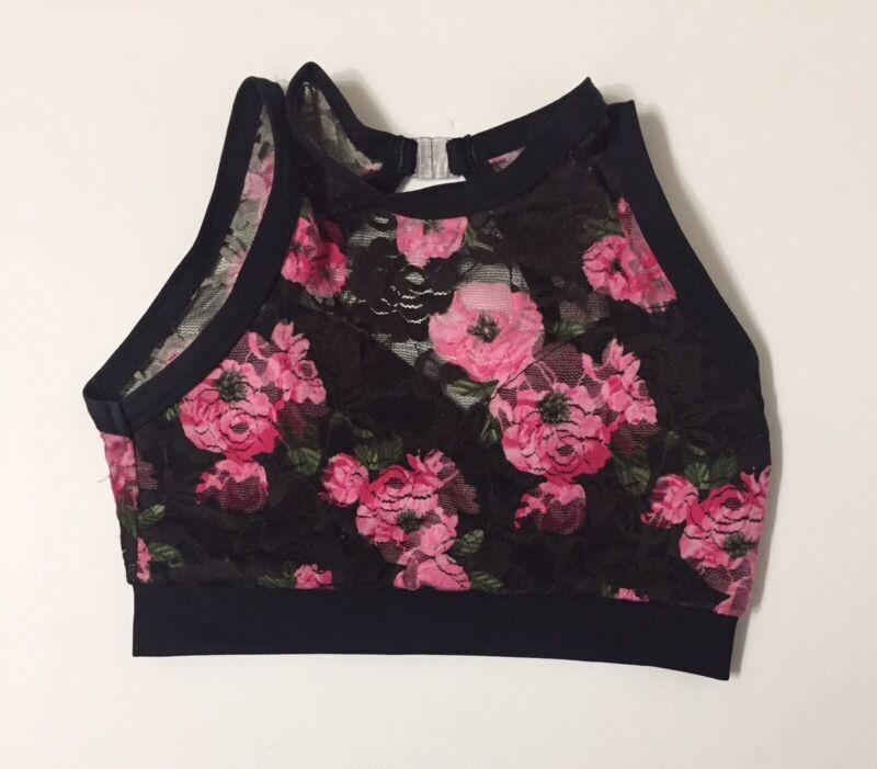 Details Dancewear Floral Laced Dance Top Child