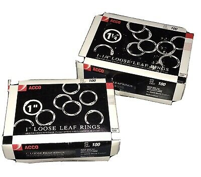 2 Acco Ring Binder Loose Leaf Rings 1 1-14 Silver Partial Boxes 85 Of Each