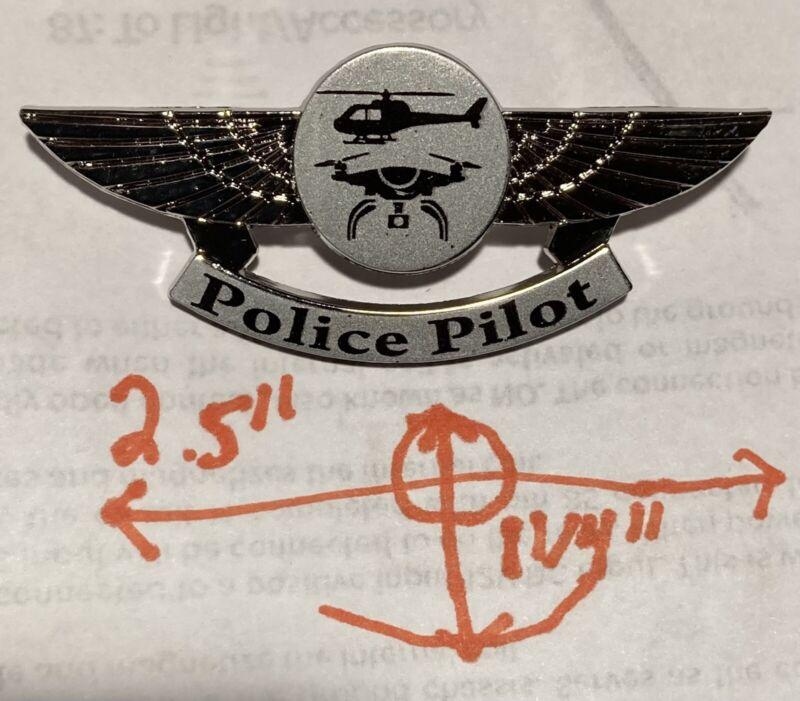 Police UAS Drone Pilot Pin