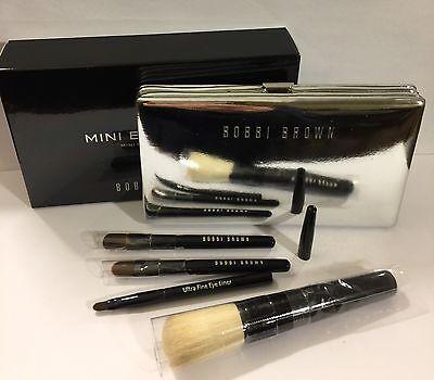 Bobbi Brown Mini Brush Set - Face Blender,Cream Shadow,Eye Shadow,Ultra Fine Eye