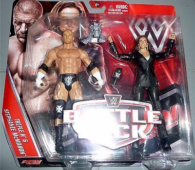 Stephanie Mcmahon   Triple H Wwe Mattel Battle 2 Packs 42 Action Figures Dmg Pk