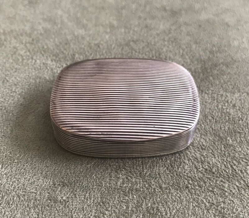 Antique 800 Silver Snuff Pastille Patch Box, Mainz, Germany Martin Mayer