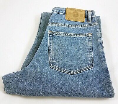 Eddie Bauer Original Denim Relaxed Fit Mid Rise Light Wash Jeans Mens 34x34 NWT - Original Rise Relaxed Fit Jeans