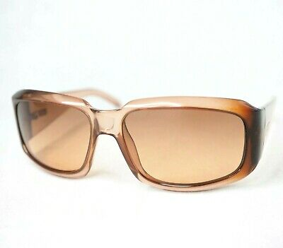 GUCCI sunglasses gg1402 gray vintage unisex wrap amber beige rectangular glasses