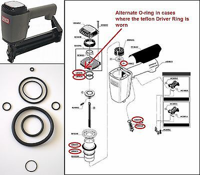 Senco SKS Stapler O ring Repair Kit