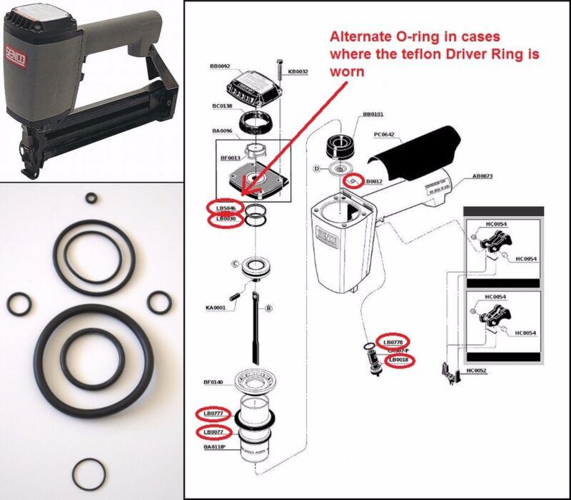 Senco SKS Stapler O ring Repair Kit