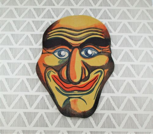 Vintage Cardboard Halloween Mask / Japan - Grin