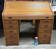 Roll top Desk Lockable with Key Great Condition Artarmon Willoughby Area Preview