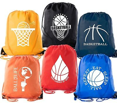 Mato & Hash Basketball Drawstring Bags with 3,6, and 10 pack bulk options  (Drawstring Backpack Bulk)