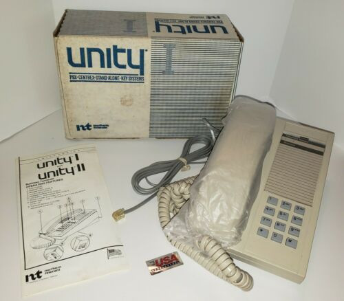 New in Box Vintage Northern Telecom Unity Phone Landline Bus