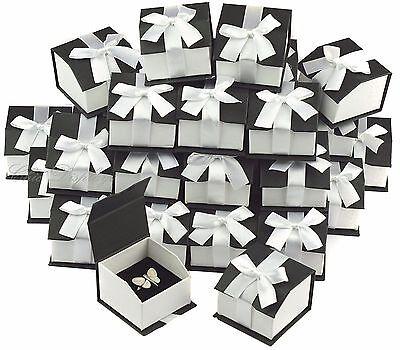 36pc Black Ring Gift Boxes For Ring Boxes Wholesale Ring Box Magnetic Ribbon Box