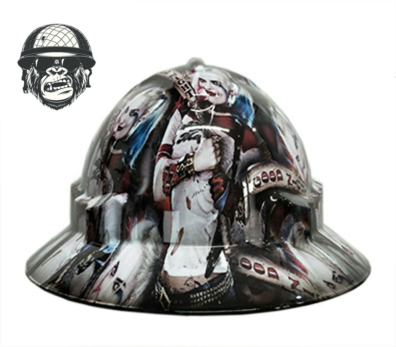 Custom Hydrographic Safety Hard Hat Industrial Mining - HARLEY QUINN WIDE