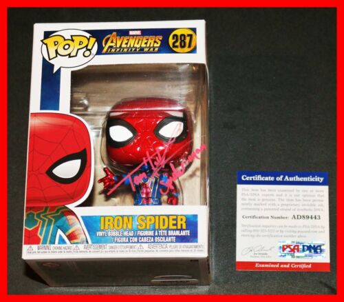 Tom Holland Signed Spiderman Iron Spider Avengers Infinity War Funko POP PSA JSA