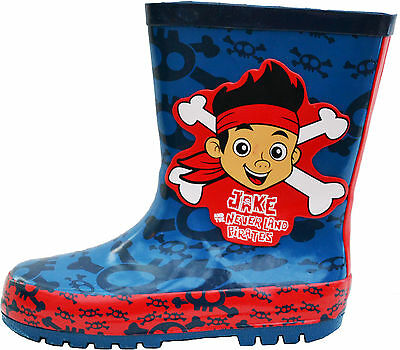 Jake Pirate Boots (Boys Jake and The Neverland Pirate Welington Boots Wellies Sizes 5 to 10)
