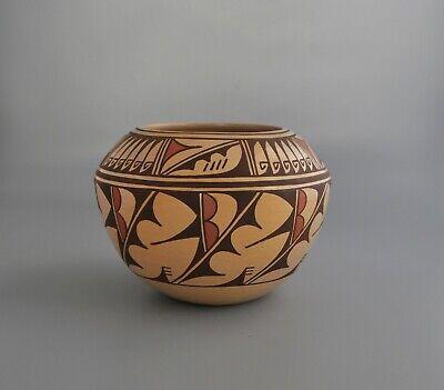 Hopi Pueblo Indian Pot - Feather Cloud Designs -  Agnes Nahsonhoya Hopi Indian Designs