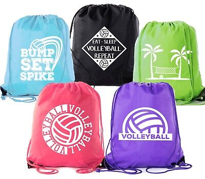 Mato & Hash Adult and Child Volleyball Drawstring Backpacks Bags - Volleyball Backpacks