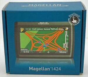 NEW Magellan RoadMate 1424 Portable GPS Navigator System US Canada TRAFFIC Set