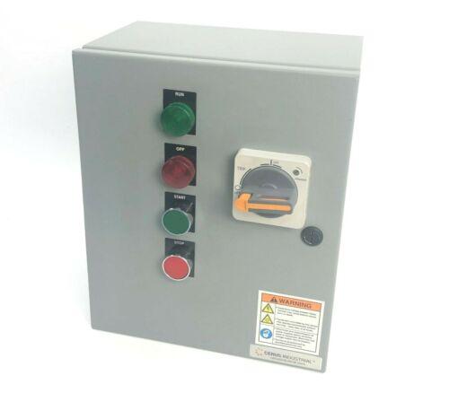 CERUS Industrial CIE12-9/K-9 Enclosed Motor Control Panel 460VAC 3PH 8A