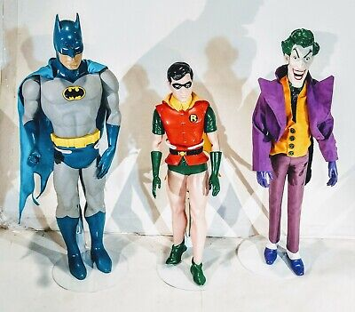 Batman And Robin & The Joker Action Figures 1988 DC 15 Inch & 12 Inch DC Comics, used for sale  Shipping to India