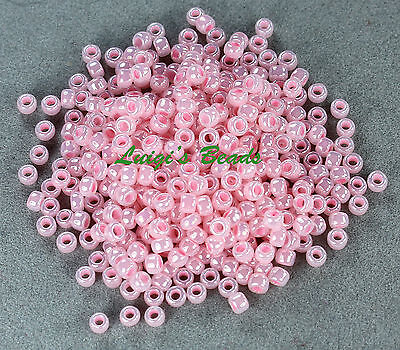 8/0 Round TOHO Japanses Glass Seed Beads # 145-Ceylon Innocent Pink 10 grams
