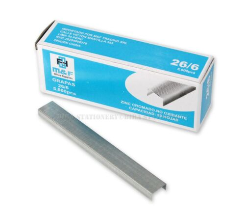 """5000 Count Standard Chisel Point Staples, 1/4"""" Length, For Office School Home"""