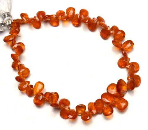 "Natural Rare Gem Orange Kyanite 7x5 to 10x8MM Faceted Pear Shape Briolettes 8"""