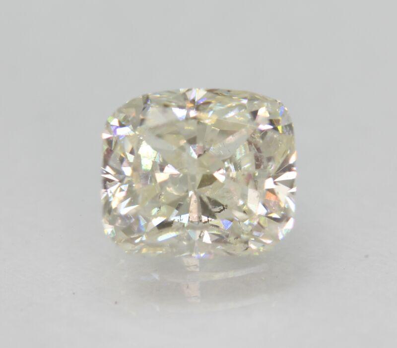 Certified 1.23 Carat H SI1 Cushion Enhanced Natural Loose Diamond 6.31x5.57mm