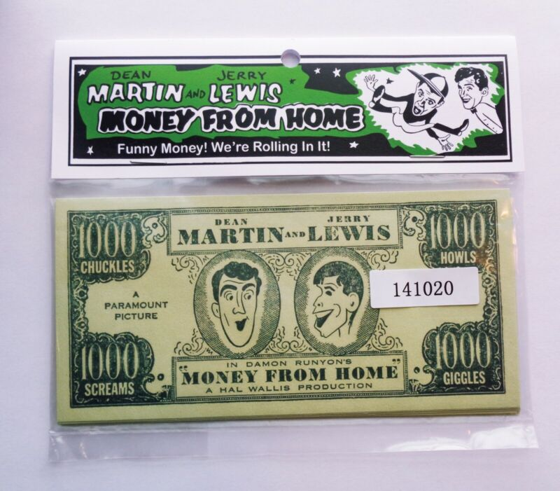 Dean Martin and Jerry Lewis Funny Money Movie Promotion Reprint