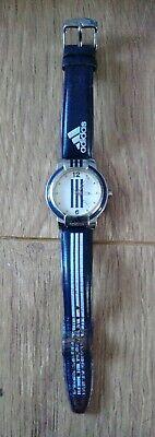 Vintage Adidas Wrist Watch, 5ATM Waterproof, White & Navy