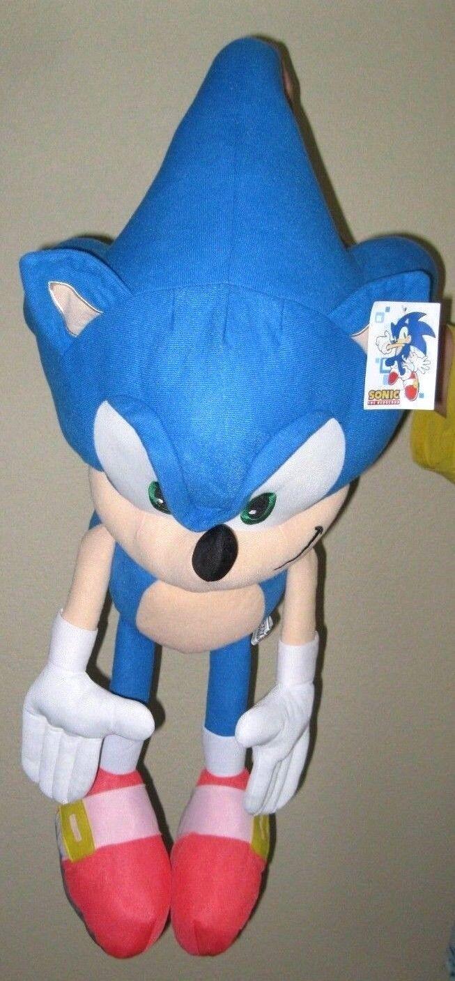Details about  /28 //45cm Sonic Plush Doll Toys  Black Blue Yellow Sonic Plush Soft Stuffed Plush