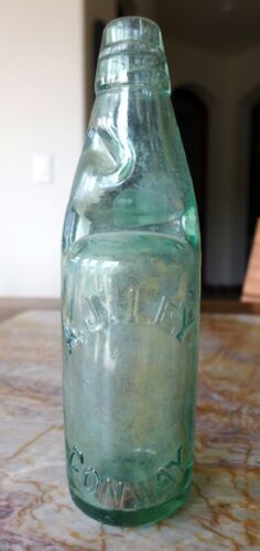Pig bottle with original marble and washer  A.J.Ley, Conway