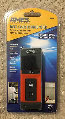 Ames 100ft. Laser Distance Meter Ldm-30 Certified Safe New