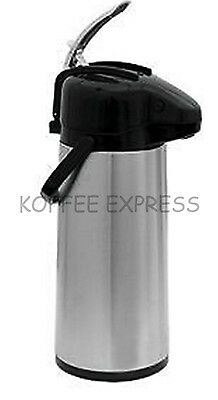 Airpot W Lever - Glass Lined Stainless Steel Body Black Lid - Update Intl