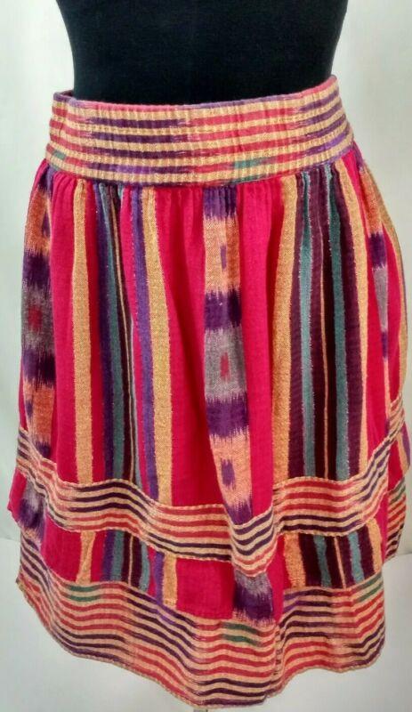 Passports Pier 1 Vintage Rayon Skirt Boho/Hippy