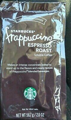 Starbucks fluffy Dalgona ESPRESSO ROAST Soluble Coffee instant iced BB 01/19 -