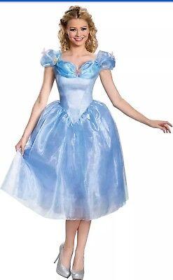 Cinderella Adult Shoes (Disney Cinderella Adult Movie Costume Dress Size Medium 8-10 DELUXE HALLOWEEN)