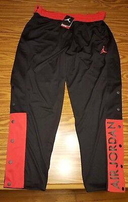 9212aee36881  56.55 - NWT  65 Nike Jordan Men s Snap Up Warm Up Pants Black   Red AA2138- 011 Size 3XL