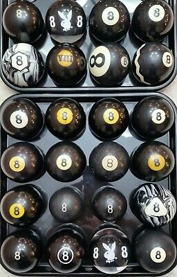 #8 Ball Pool Ball, 1500 VINTAGE & ANTIQUE BILLIARD BALLS IN STOCK Clay & -