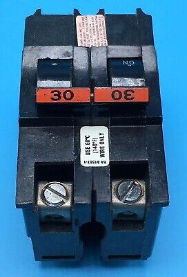Circuit Breaker Fpe Federal Pacific Fpe 30 Amp 2 Pole Stab-lok Type Na