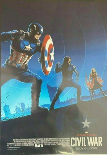 CAPTAIN AMERICA CIVIL WAR BLUE IMAX AMC PRINT 11 x 14 #oa-1249