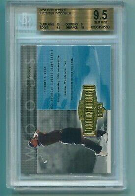 Tiger Woods Upper Deck 2004 Golf #57 BGS Graded Gem Mint 9.5 W/2/10's