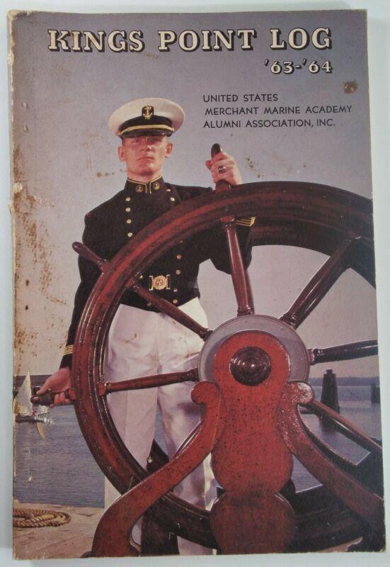 USMMA U.S. Merchant Marine Academy Kings Point Log Rare VHTF Vtg 1963 New York